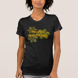 Snow Flakes 3D Pattern Design T-Shirt
