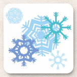 Snow Flakes Beverage Coasters