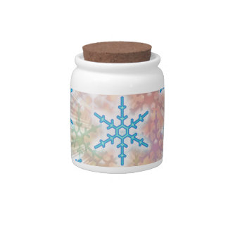 SNOW Flakes Blue Candy Dishes