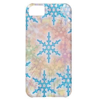 SNOW Flakes Blue iPhone 5C Cases