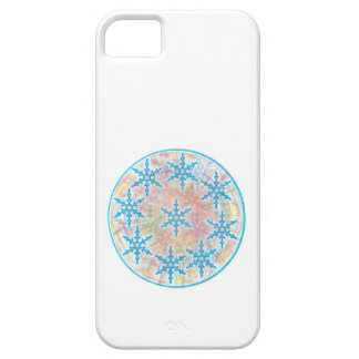SNOW Flakes Blue iPhone SE/5/5s Case