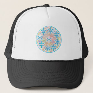SNOW Flakes Blue Trucker Hat