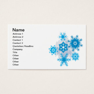 Snow Flakes Business Card