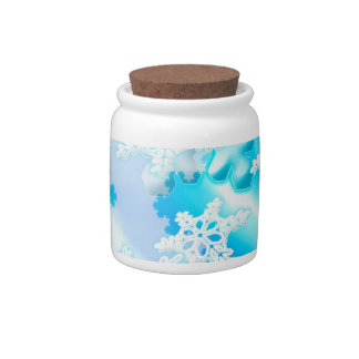 Snow Flakes Candy Dishes