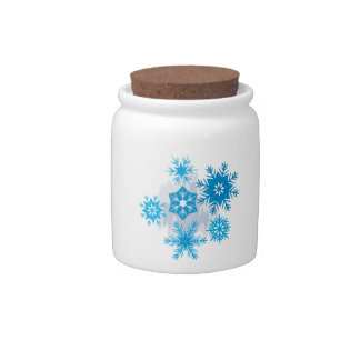 Snow Flakes Candy Jars