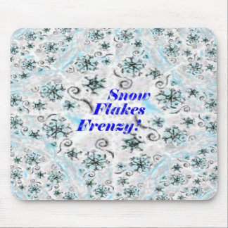 Snow Flakes Frenzy Mouse Pad