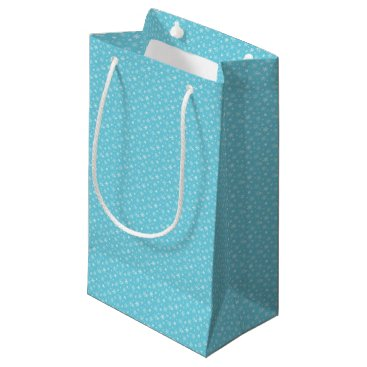 Beach Themed Snow Flakes Frozen Blue Small Gift Bag