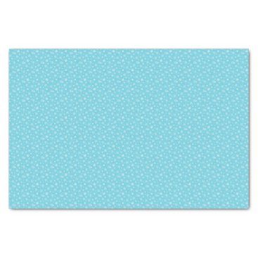 Beach Themed Snow Flakes Frozen Blue Tissue Paper