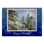 Snow Flakes Happy Holidays Photo Card