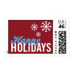 Snow Flakes Holiday Postage