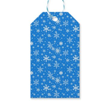 Beach Themed Snow Flakes in Blue and White Gift Tags