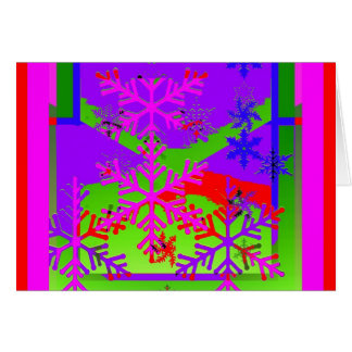 Snow Flakes in colorful Design by Shales Card