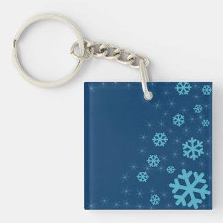 Snow flakes keychain