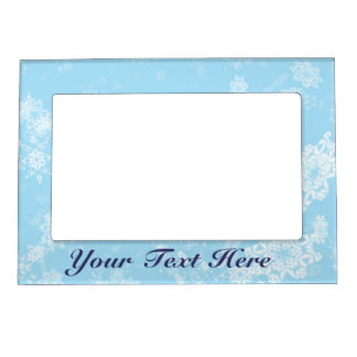 Snow Flakes Magnetic Photo Frame Customize It