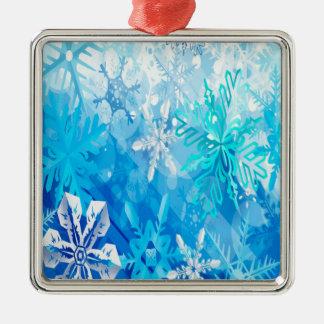 Snow Flakes Metal Ornament