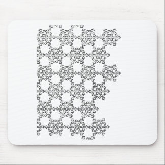 Snow flakes mouse pad
