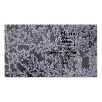 snow flakes on Glass Business Card