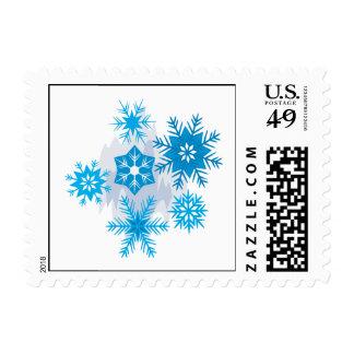 Snow Flakes Postage Stamp