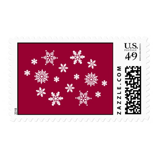 Snow Flakes Postage Stamps