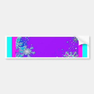 Snow Flakes Purple Twilight By Sharles Car Bumper Sticker