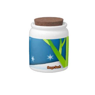 Snow Flakes Scene Candy Jar