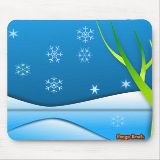 Snow Flakes Scene Mouse Pads