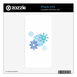 Snow Flakes iPhone 4S Skins