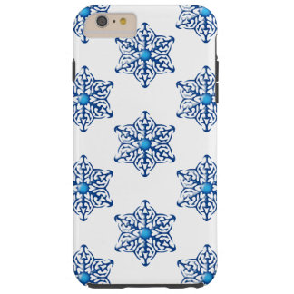Snow Flakes Tough iPhone 6 Plus Case