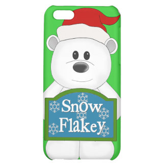Snow Flakey Christmas Bear Art iPhone 5C Covers