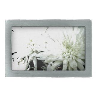 Snow Flower Black and white Chrysanthemum Belt Buckles