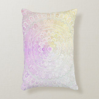 Snow Flower Mandala Accent Pillow