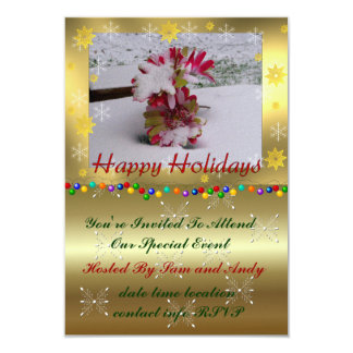 Snow Flowers Card