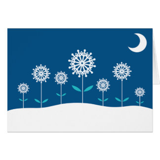 Snow Flowers Note Card