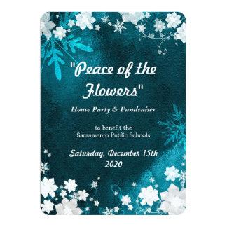 Snow Flowers Winter Fundraiser Event Card