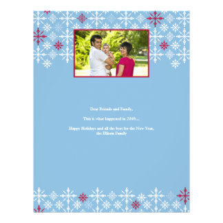 Snow Flurries Family Holiday Letter Flyer
