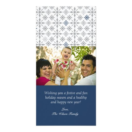 Snow Flurries Holiday Greeting Photo Greeting Card