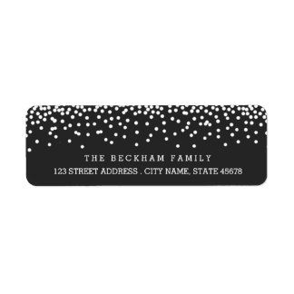 Snow Flurry Holiday Return Adress Labels / Gray