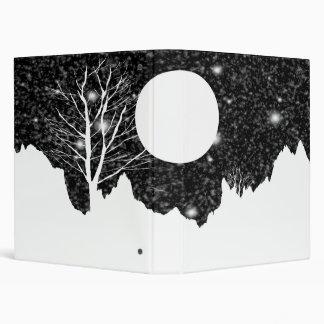 Snow flurry on a moonlit night Binder