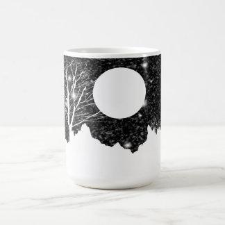 Snow flurry on a moonlit night Mugs