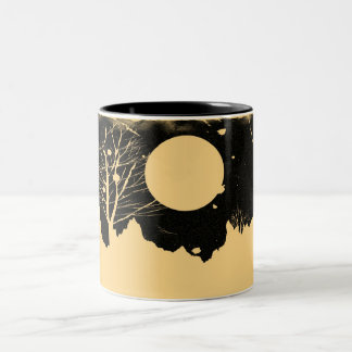 Snow flurry on a moonlit night - vintage Mugs