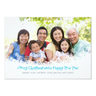 Snow Flurry Photo Holiday Card Personalized Announcement