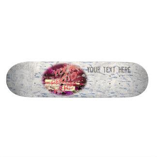Snow Footprints Photo Template Skateboard