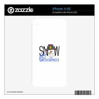 Snow For Christmas Decal For iPhone 4