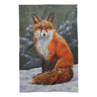Snow Fox Towels