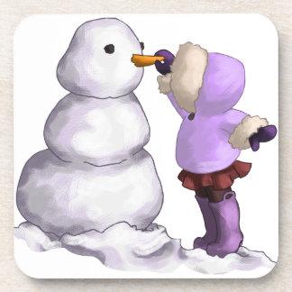 Snow Friend Beverage Coaster