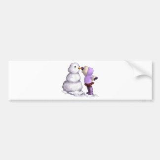Snow Friend Bumper Sticker