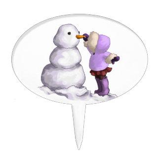 Snow Friend Cake Topper