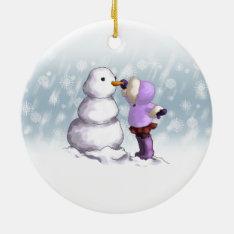 Snow Friend Ceramic Ornament at Zazzle