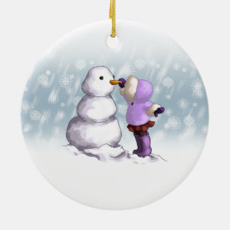 Snow Friend Ceramic Ornament