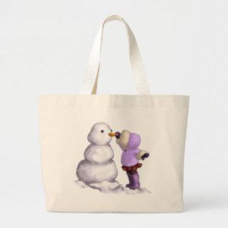 Snow Friend Large Tote Bag